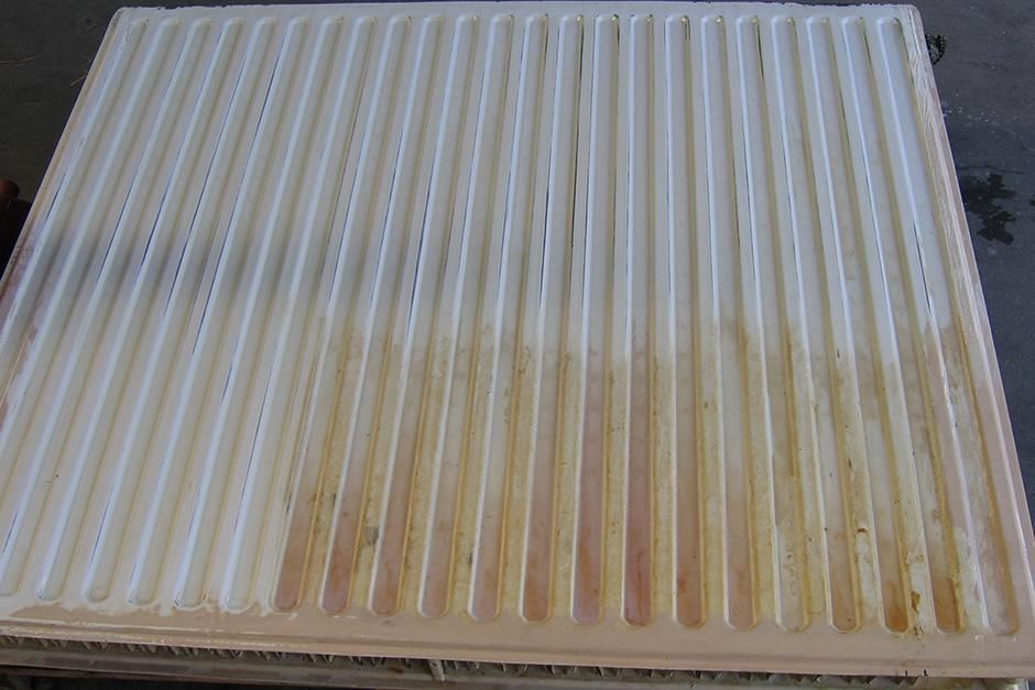 radiator VOOR het lakken