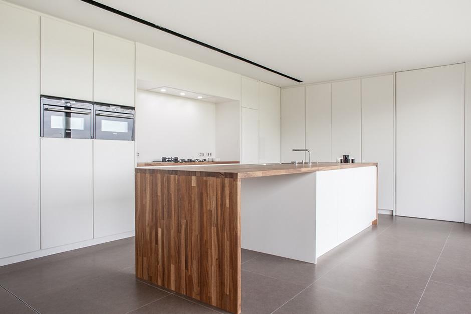interieur lakwerk keuken wand / satin